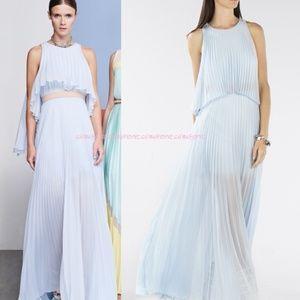 BCBG Pleated Silk Gown Elegant M